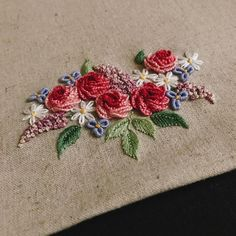 Wonderful Ribbon Embroidery Flowers by Hand Ideas. Enchanting Ribbon Embroidery Flowers by Hand Ideas. Bullion Embroidery, Brazilian Embroidery Stitches, Types Of Embroidery, Rose Embroidery, Japanese Embroidery, Hand Embroidery Stitches, Silk Ribbon Embroidery, Embroidery Techniques, Embroidery Needles