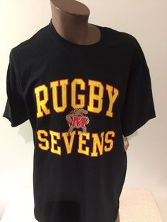 University Of Maryland Rugby USA SEVENS XL Tshirt NEW NWT Official Licensed   BLUE84  GraphicTee 2df499ea80d74