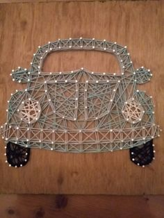 String art VW beetle