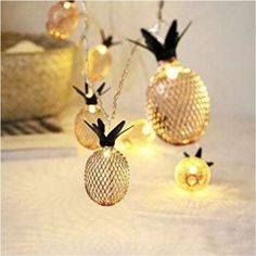 Novelty Pineapple String 20 LED Twinkle Pineapple Fairy String Lights Battery Operated Warm White Metal Mesh for Christmas Home Wedding Party Bedroom Birthday Decoration Starry String Lights, Christmas String Lights, Holiday Lights, Light String, String Lighting, Light Led, Night Light, Light Bulb, Decorating Rooms