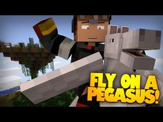 Minecraft Redstone | PEGASUS! | Flying Horses In Minecraft! Magic Seeds & More! (Minecraft Redstone) - YouTube