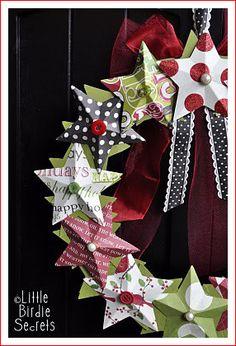 тысяча разных идей - Новогодний декор из бумаги.