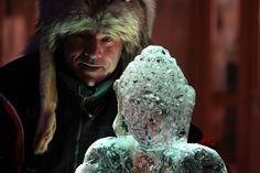 Sculpture sur #glace- #lesorres - by Philippe Minier - crédit photo Alice Simonard