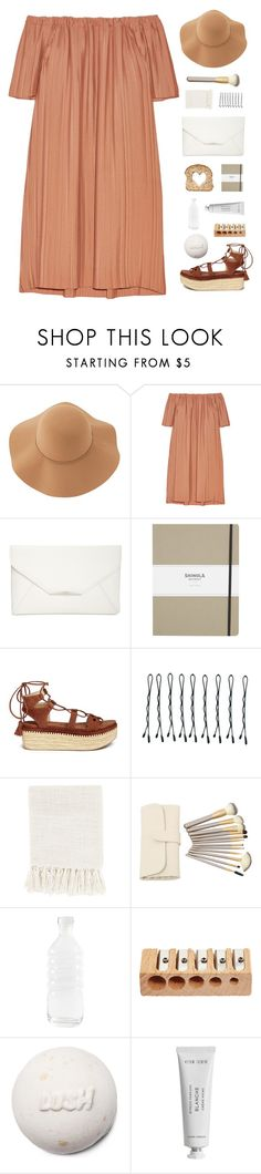 """Summer Please Come."" by banayana ❤ liked on Polyvore featuring Sans Souci, ADAM, Style & Co., Shinola, Stuart Weitzman, BOBBY, Surya, canvas and Byredo"