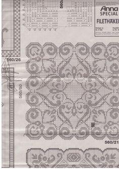 Unique Filet Crochet Tablecloth for Contemporary Table Decor - Page 6 of 6 - Crochet Filet Crochet Tablecloth Pattern, Crochet Doily Patterns, Crochet Designs, Crochet Doilies, Crochet Lace, Free Crochet, Filet Crochet Charts, Fillet Crochet, Needlework