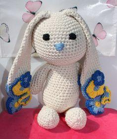 Perfect gift for new Baby Boy! Crochet amigurumi bunny / stuffed animal Flower door BoxOfBeasts