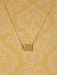 Gold and Silver Washington State Necklace! Only $14!!