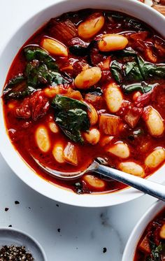 Tomato and cannellini bean soup recipe: Hearty, healthy, and vegetarian.