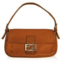 Fendi Camel Leather Baguette