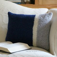 """The """"Main Line Pillows"""" knitting pattern is simple and easy!"""