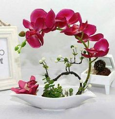 Elegant Fashion creative touch simulation butterfly orchid suits Fake flowers Chinese style household hotel front desk desktop put floral decoration Ikebana Arrangements, Orchid Flower Arrangements, Artificial Orchids, My Flower, Beautiful Flowers, Fake Flowers, Floral Design, Centerpieces, Vases Decor
