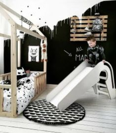 MUREN VAN EEN KINDERKAMER   #boysroom #walls #room for a boy #sleepingroom boy Teen Bedroom, Bedroom Decor, Cool Beds, Awesome Beds, Playroom Design, Decoration Inspiration, Baby Boy Nurseries, Kid Spaces, Boy Room