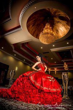V back red dress 89050