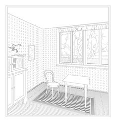 WOHNUNG THERESIENSTRASSE : MAX ZITZELSBERGER ARCHITEKT Architect Drawing, Architecture Graphics, Layout, Planer, Coloring Pages, Kids Rugs, Architectural Drawings, How To Plan, Inspiration