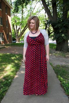 A Gap maxi dress, as featured on the blog Surely Sonsy.