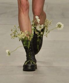 flowers in my boots
