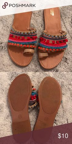 Mossimo Sandals Mossimo Sandals - only worn twice! Size 6.5 Mossimo Supply Co. Shoes Sandals