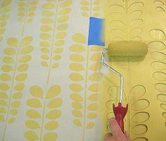 Good stencil design for laundry room floor Cutting Edge Stencils - Acacia Allover Stencil