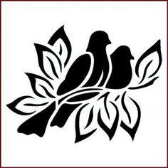 Stencil Patterns, Stencil Designs, Embroidery Patterns, Bird Stencil, Stencil Diy, Bird Silhouette, Silhouette Portrait, Kirigami, Stencils