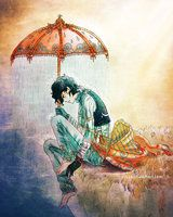 My Rain by Yuuza on deviantART This has a very deep inner meaning. The rain coming from the umbrella and not the sky. The sky being light and sunny and the deep darkness below. All of this makes me want to give this poor guy a hug...  I think its also interesting that the hands are covered but the feet aren't...