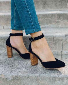 4b18a420b Calcanhar Collette - 7 / Preto Armário De Sapatos, Sapatos Lindos, Sapatos  De Salto