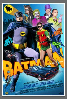 1966 BATMAN movie poster by Christopher Franchi