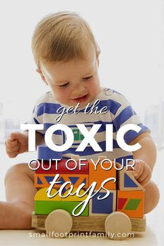 Made from petroleum, most plastic toys contain toxic phthalates, BPA, fire retardants, and other chemicals that are neither safe for kids nor eco-friendly. Click to find non-toxic alternatives!