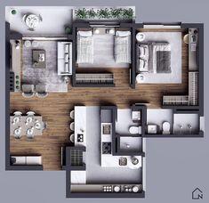 House Floor Design, House Outside Design, Sims House Design, Home Design Floor Plans, Home Building Design, Small House Design, Home Room Design, Plan Design, Small Modern House Plans