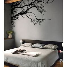 "Amazon.com: Stickerbrand Vinyl Wall Decal Sticker Tree Top Branches (M) 100"" W X 44"" H: Everything Else"