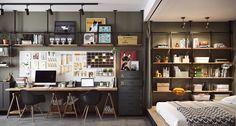 Curte uma decoração inteligente, criativa e moderna? Chega mais que esse pequeno apartamento chinês tem tudo isso.