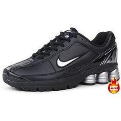 Mens Nike Shox R6 Black Silver Lether d1f4d9065