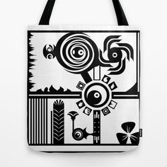 Black & White Tote Bag by Robleedesigns - $22.00