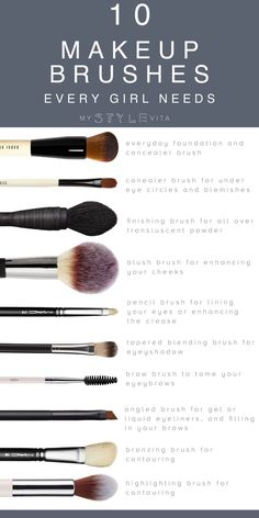 The 10 best makeup brushes to have on hand. These brushes are your essentials to your everyday makeup routine.