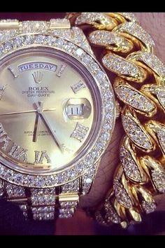 Diamond & Gold Rolex.