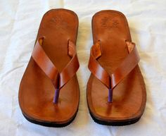 Leather Sandals-Handmade Sandals Flip Flops, Thongs, Custom Made ALL SIZES #Handmade #FlipFlops