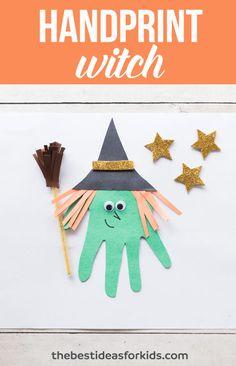 Handprint Witch Craft for Kids