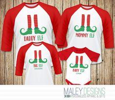 family elf shirts matching family christmas pajamas shirts