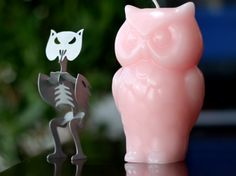 The Angry Owl Candle Reveals A Skeleton As It Melts