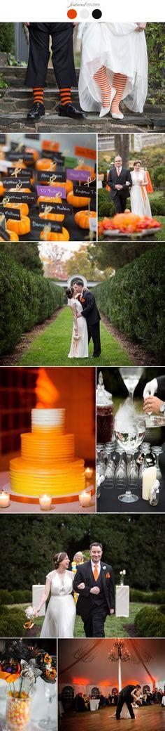 Halloween wedding colors