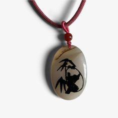 Harmonious Panda - Agate Amulet – Shifu Yan Lei Cleansing Stones, Chinese Writing, Amulets, Yin Yang, Agate, Panda, Prints, Agates, Pandas