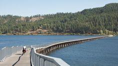 My favorite bike trail bridge. Trail of the Couer d' alenes