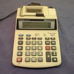 Canon (P23-DHII) AC & Battery Powered 2 Color 12 Digit Desk Printing Calculator  #Canon