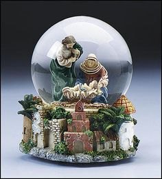 1000 Images About Mary Joseph Baby Jesus Snow Globes On