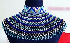 Zulu necklaces for all, Zulu necklace style, South Africa Necklace style , MamaZuriStyle African Earrings, African Beads, African Jewelry, African Accessories, Jewelry Accessories, Zulu, Beaded Jewelry, Beaded Necklace, Necklaces