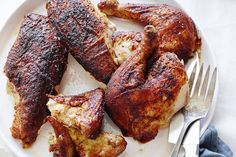Get this perfect and moist Paprika Roasted Chicken recipe that you'll use over and over again for whole roasted chicken or to shred and use for salads!
