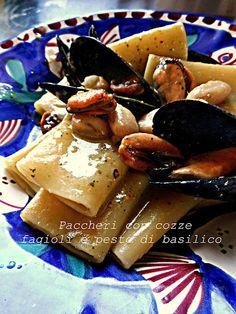 #pasta Paccheri con cozze e fagioli