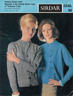 L6036  Womens Knitting Pattern Ladies Twin Set Ladies Cardigan Ladies Sweater Womens Set 34-40inch4ply Ladies Knitting Pattern PDF instant download  PLEASE NOTE PATTERNS ARE IN ENGLISH ONLY  Please refer to the pictures above for information from pattern on sizes, materials used, needle size etc. Click on the white arrow half way up the picture on the right side. Where a discontinued yarn is used, I check the needle size for a modern equivalent and include in the description. This is meant…