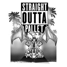 """Straight Outta Pallet"" by InkOne ""The world's most dangerous times created the world's most dangerous group"" Ash Ketchum, Bulbasaur, Pikachu, Squirtle, Charizard Pokemon, Pikachu, Straight Outta Compton, Shy Guy, Game Info, Pop Culture Art, Cool Graphic Tees, Bulbasaur, Game R"