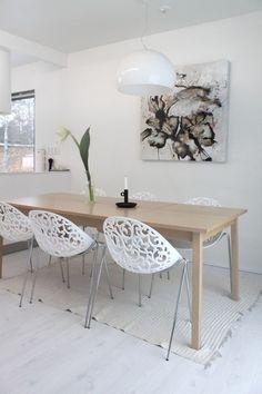 Modern dining area.