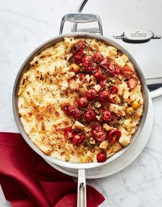Cheesy Skillet Pasta in All-Clad Pasta Shapes, Pasta Noodles, Roasted Tomatoes, Pasta Dishes, Skillet, Bon Appetit, Meals, Dinners, Entrees